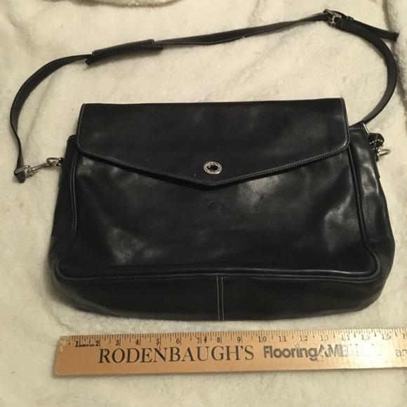 Coach Handbags - Vintage Coach Black Leather Attache